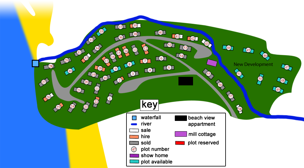 tresaith caravan, cardigan bay holiday park, siteplan