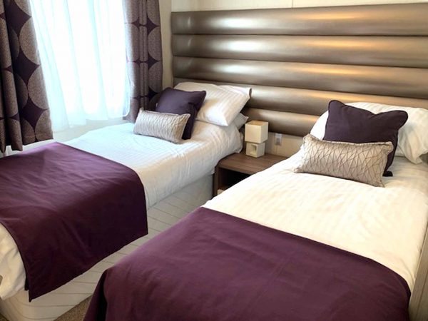 Pemberton Arrondale Lodge Twin bedroom Gwalia Falls Retreat Tresaith Beach